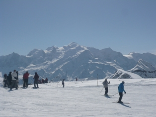 Mont Blanc from Flaine